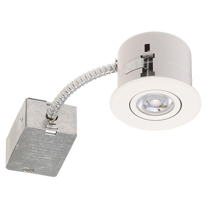 recessed light 7w led 3 3 8 matte white