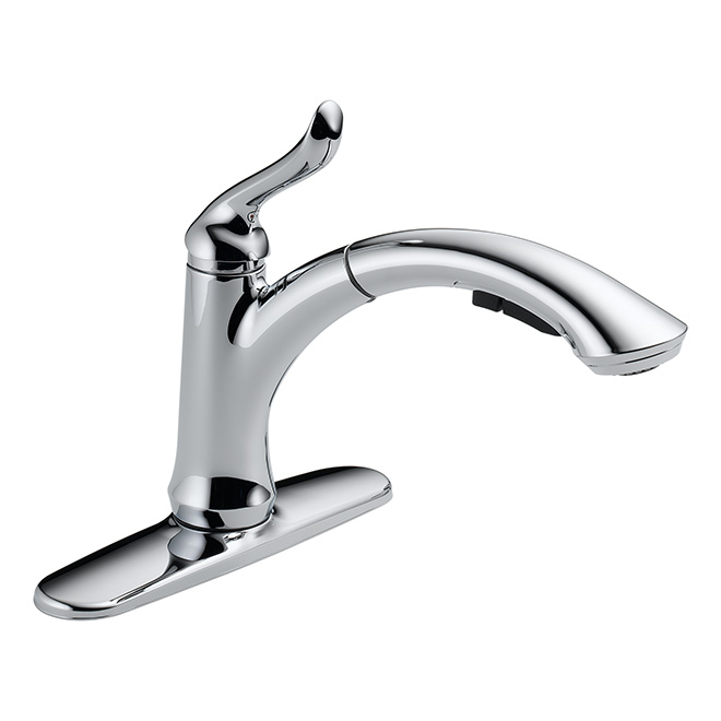 linden pull out kitchen faucet chrome
