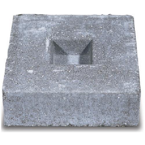 barkman concrete patio footing slab 12 in x 12 in x 4 in grey