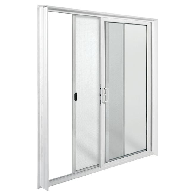 vinyl sliding patio door 60 x 80 white right opening
