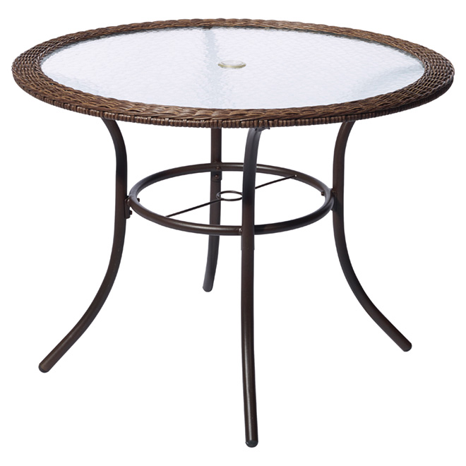 https www rona ca en style selections spruce hills patio dining table round tempered glass 39 1 2 lg h8203 t 41355019