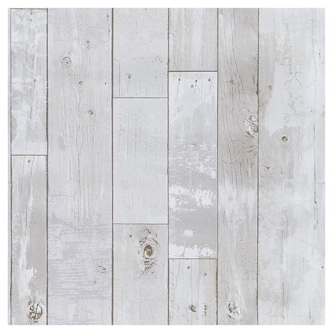 papier peint allure de planches 20 5 x 33 gris