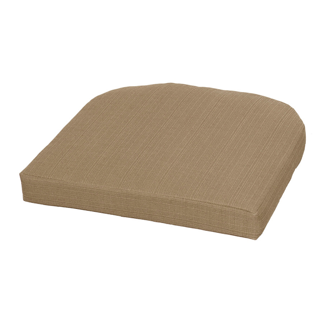 style selections outdoor seat cushion 20 1 2 in neutral