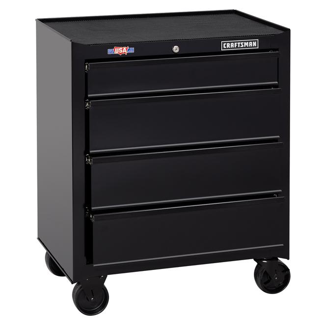 coffre a outils sur roulettes 26 4 tiroirs noir