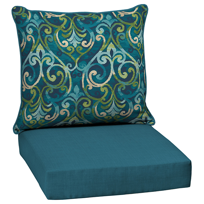 deep seat and back cushion 24 polyester blue