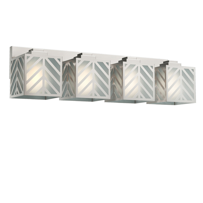 allen roth 4 light vanity light 27 5 in x 6 6 in frosted glass brushed nickel