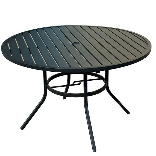 pelham bay patio dinner table style selections 48 x 29 25 matte black