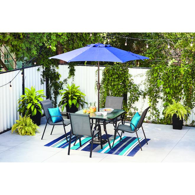 market umbrella 7 5 ft steel fabric navy blue