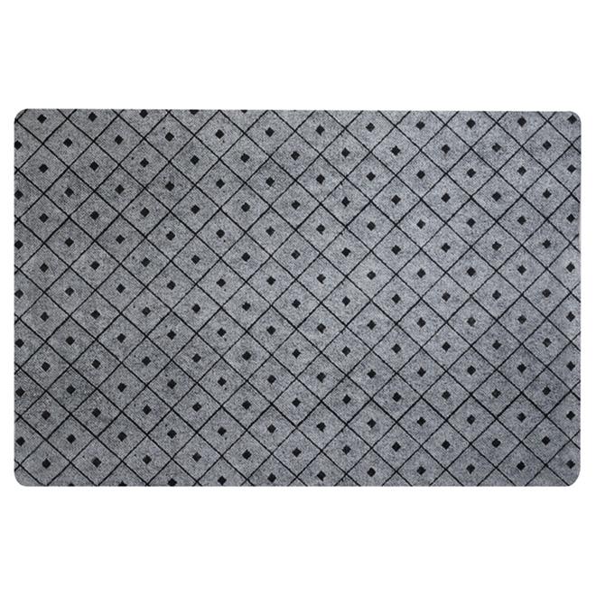 tapis utilitaire en caoutchouc 4 x 6 gris