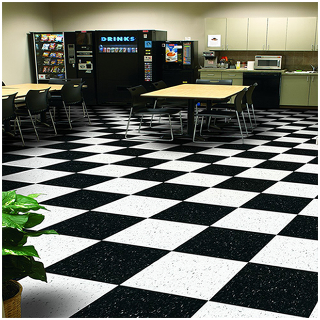 commercial vct vinyl floor tile 12 x 12 speckled black