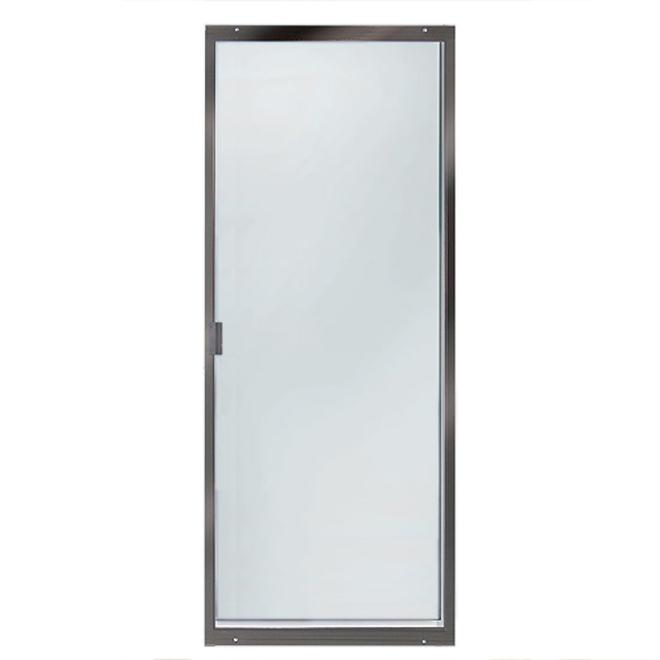 patio screen door sliding and adjustable 36 brown
