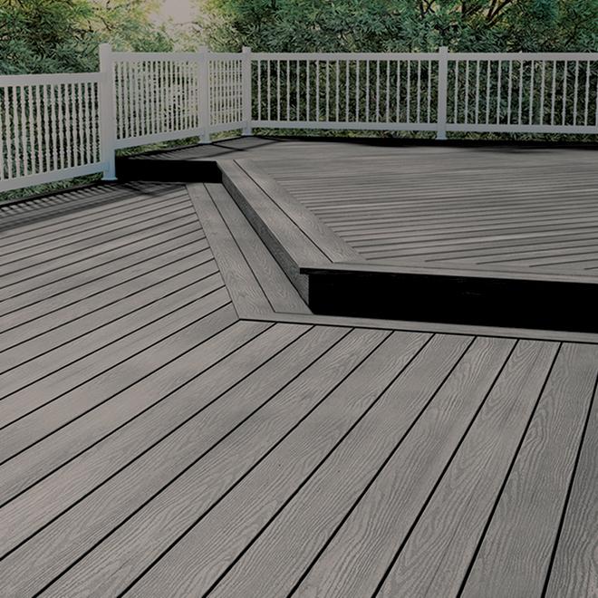 planche pour terrasse 16 composite mirage gris