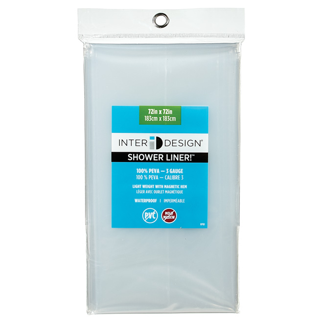 shower curtain liner 72 x 72 clear