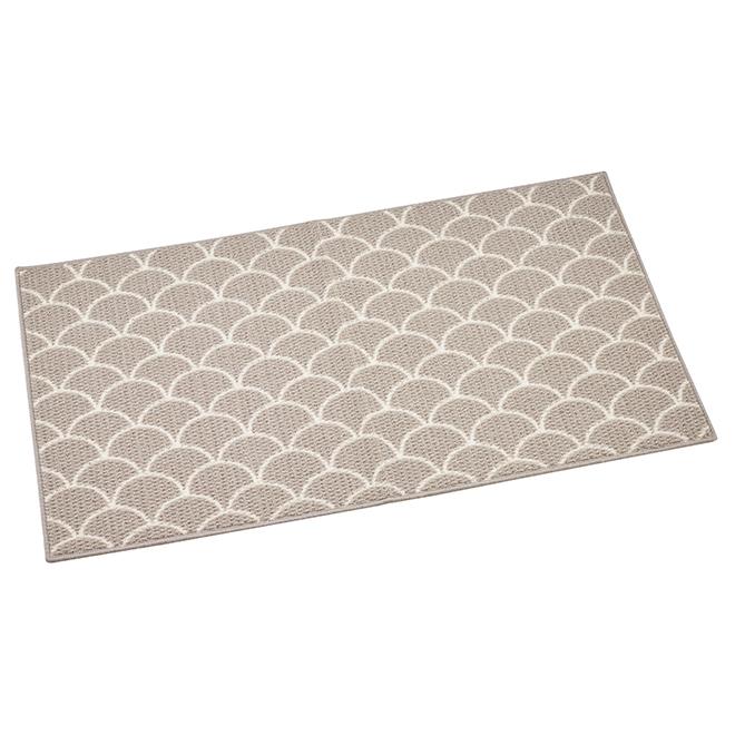 tapis interieur decoratif a imprimes 27 x 45 gris