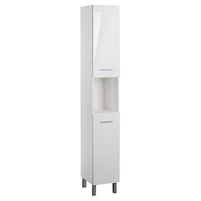 armoire de salle de bains blanc lustre