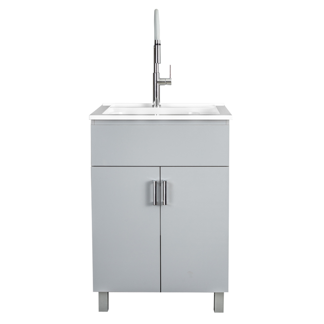laundry sink with cabinet 25 grey