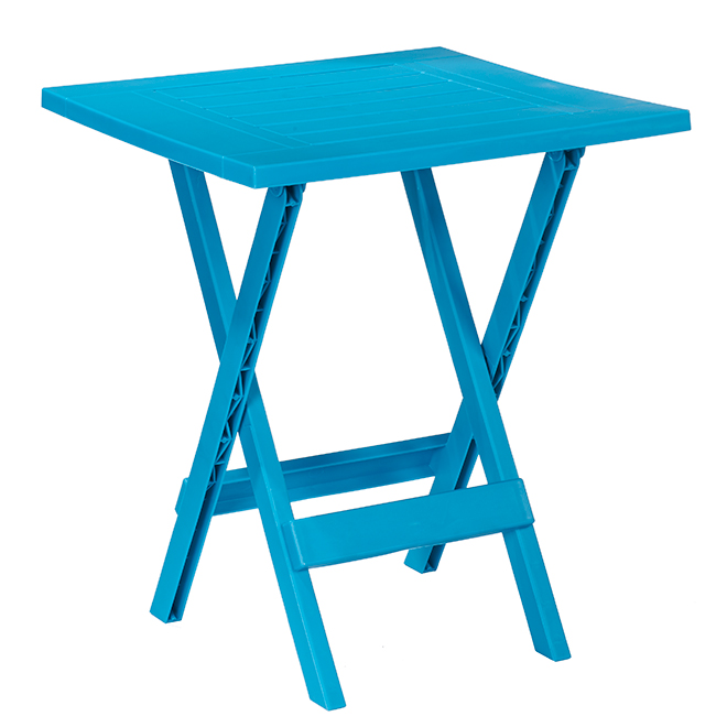 patio side table adirondack folding 19 in x 19 in teal