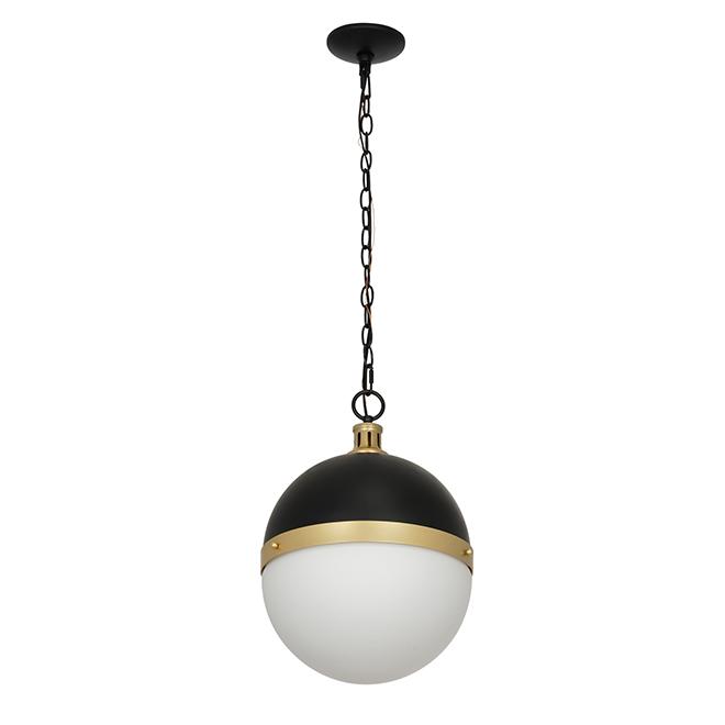 luminaire de suspension catalina noir et or 17