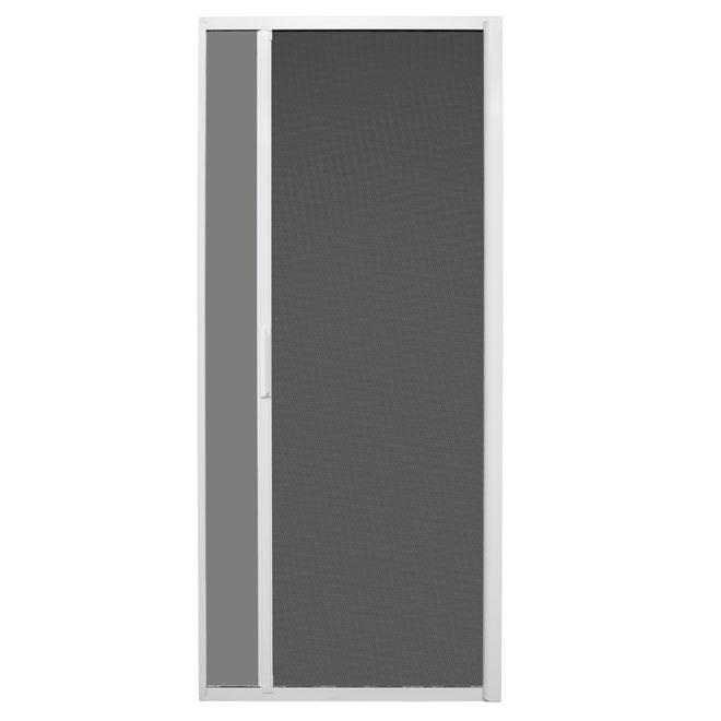 retractable sliding screen door white