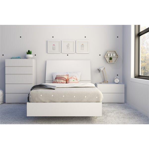 tete de lit simple nexera blanc