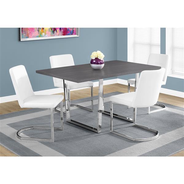 table de cuisine monarch 59 x 30 25 metal gris