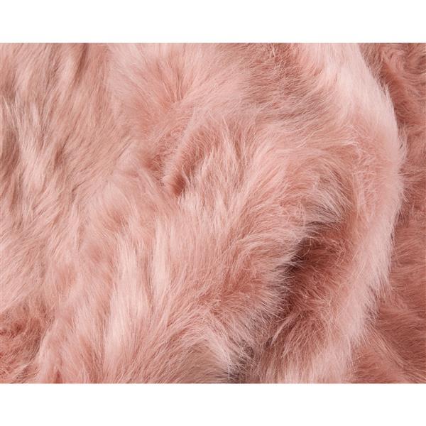 tapis gordon en fausse fourrure de mouton 2 x 3 rose