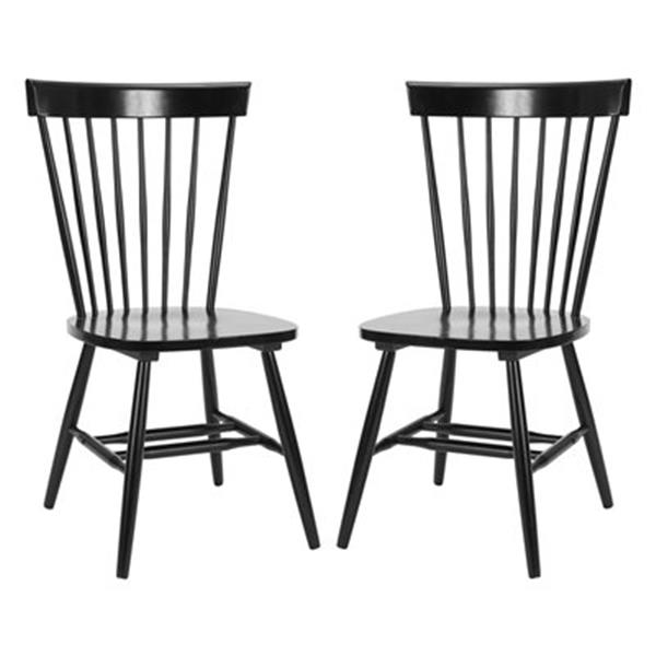 safavieh parker 36 in black dining chairs set of 2