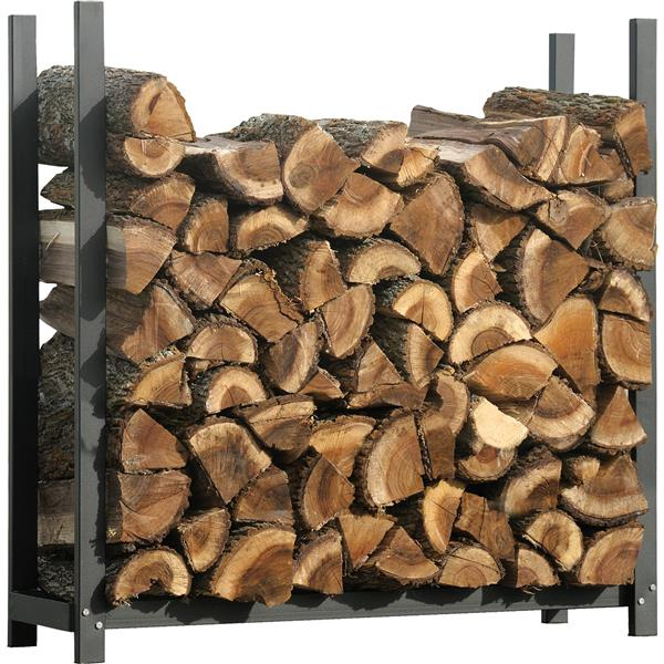 shelterlogic ultra duty firewood rack black