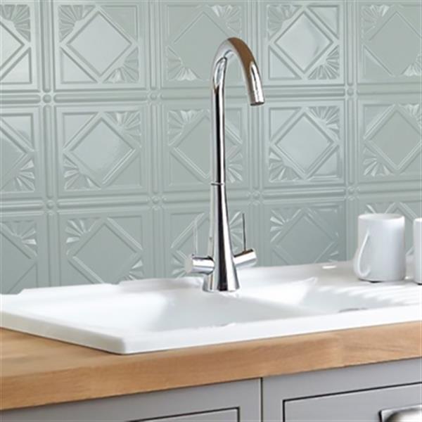 retro art artnouvo white backsplash tiles wall paneling