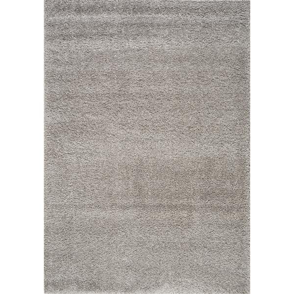 tapis shaggy de kalora 5 x 8 gris argente