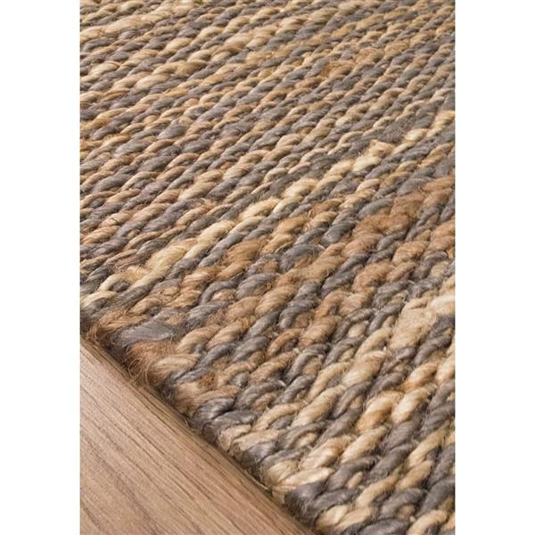 tapis jute tresse naturel de kalora 8 x 11 beige