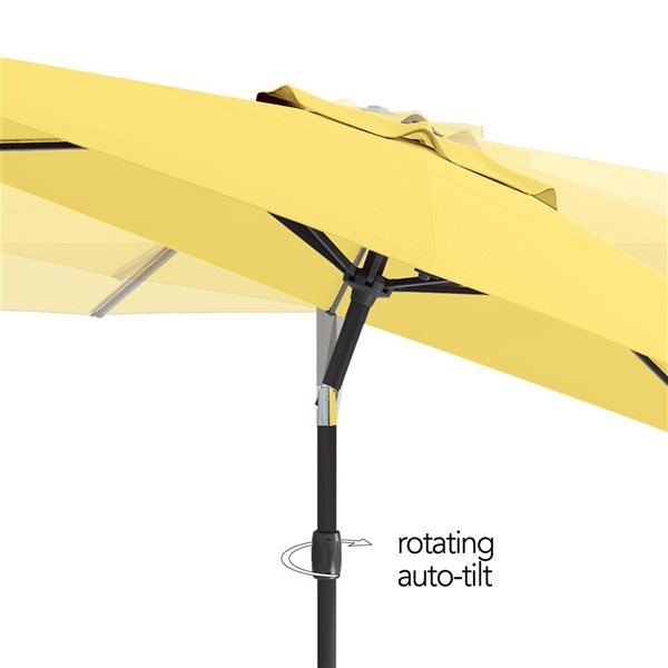 corliving uv and w d resistant tilt g patio umbrella