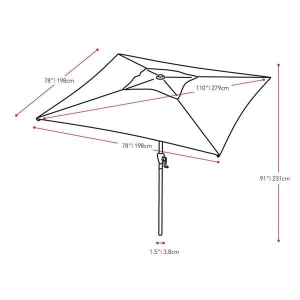 corliving square patio umbrella orange
