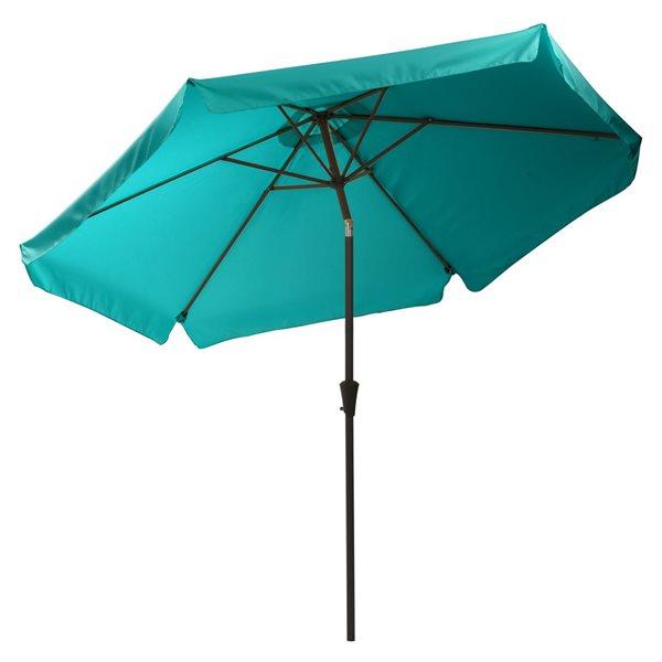 corliving tilt g patio umbrella turquoise blue