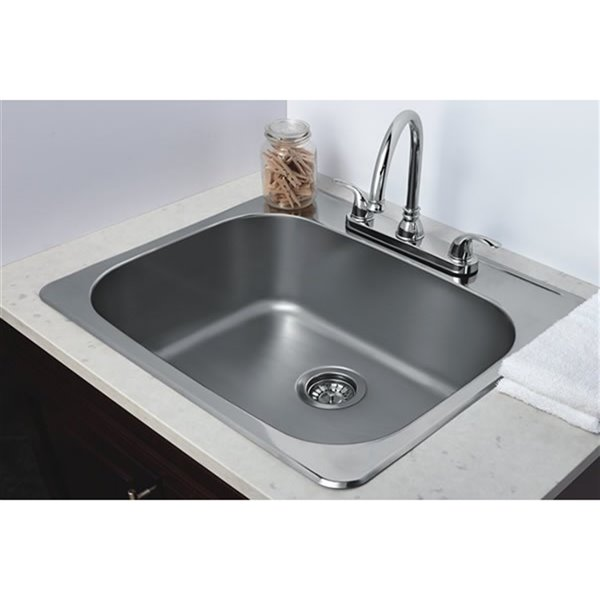 american imaginations laundry sink 25 x 22 stainless steel