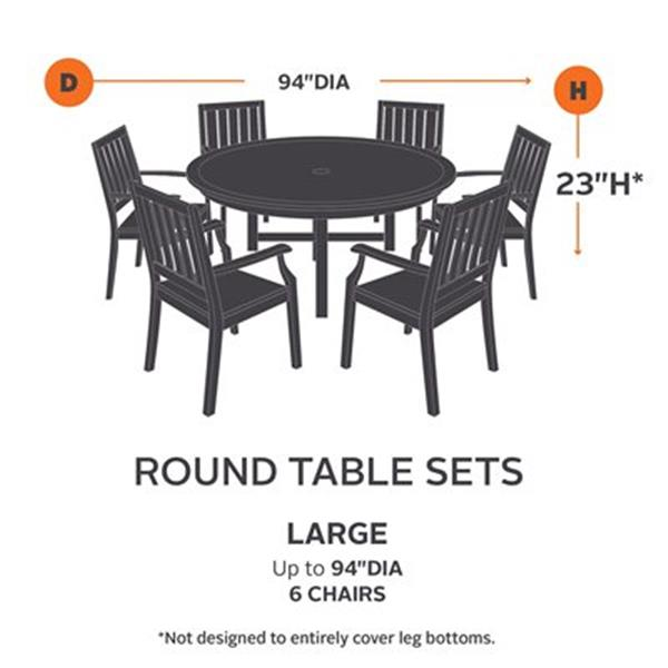 classic accessories 55 1 ravenna round patio table and chair