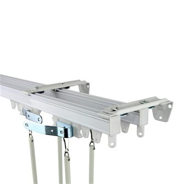 rod desyne commercial wall ceiling double curtain track kit