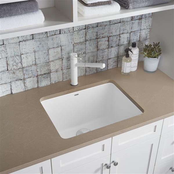 blanco liven single bowl laundry sink white
