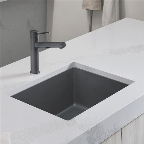 https www rona ca en blanco precis single undermount sink ash 24 in 401882 330625568