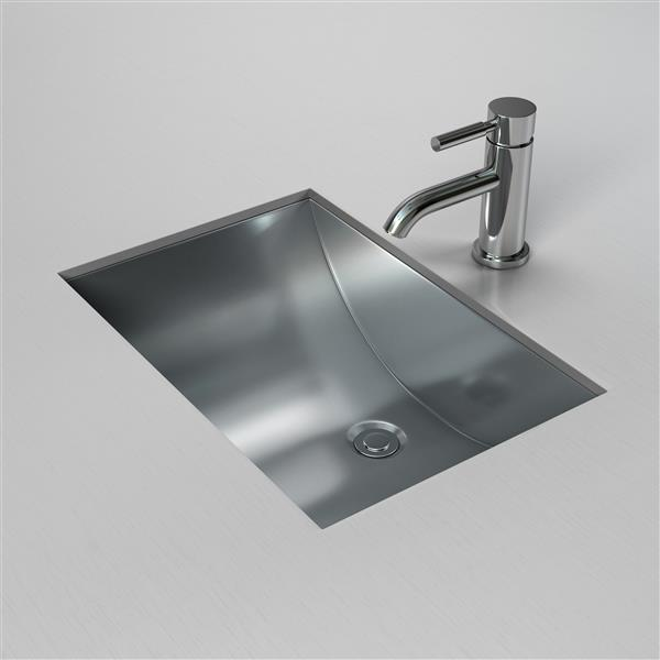 cantrio koncepts stainless steel rectangular undermount bathroom sink