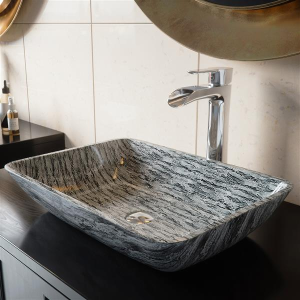 vasque de salle de bain en verre de vigo md multicolore