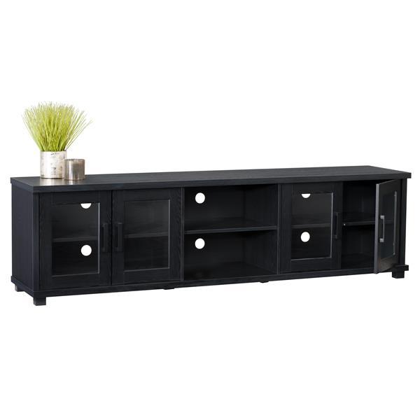 meuble tele pour televiseurs jusqu a 90 noir corbeau