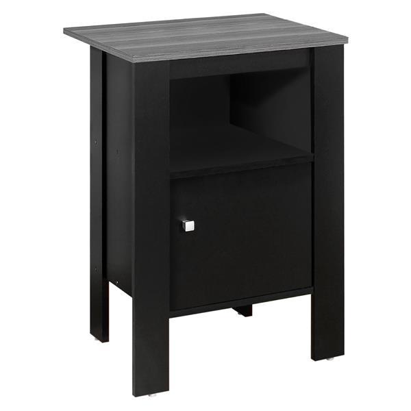 table d appoint ou table de nuit noir avec dessus gris