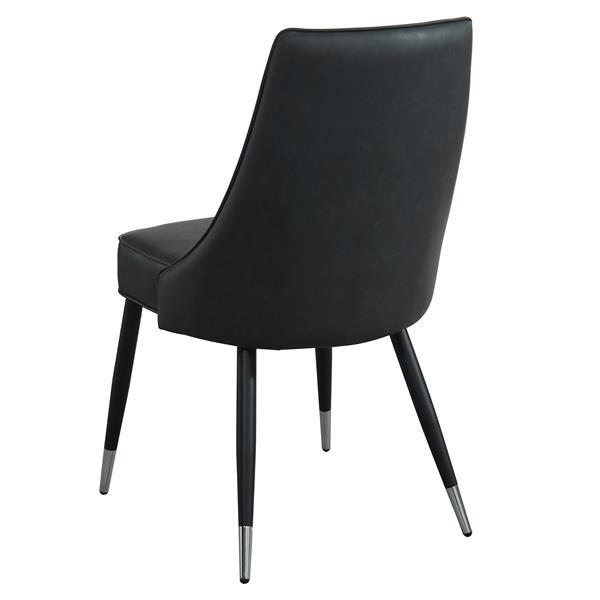chaise de salle a manger vintage nspire simili cuir noir 35 po ens de 2