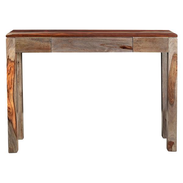 table console en bois massif nspire 30 po x 42 po brun et gris