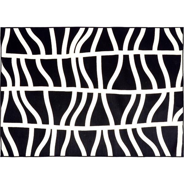 tapis d exterieur hosta 78 75 polypropylene noir blanc