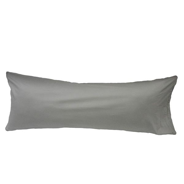sleep solutions by westex body pillow case 21 in x 55 in silver