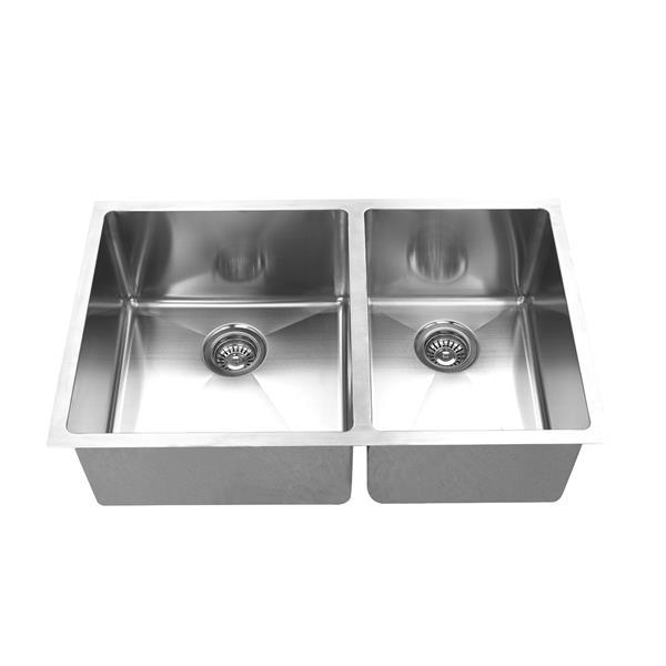 elegant stainless undermount sink 30 in stainless steel