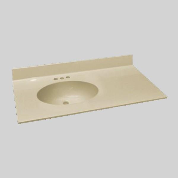 the marble factory 37 in x 22 in bathroom vanity top with integral sink solid bone