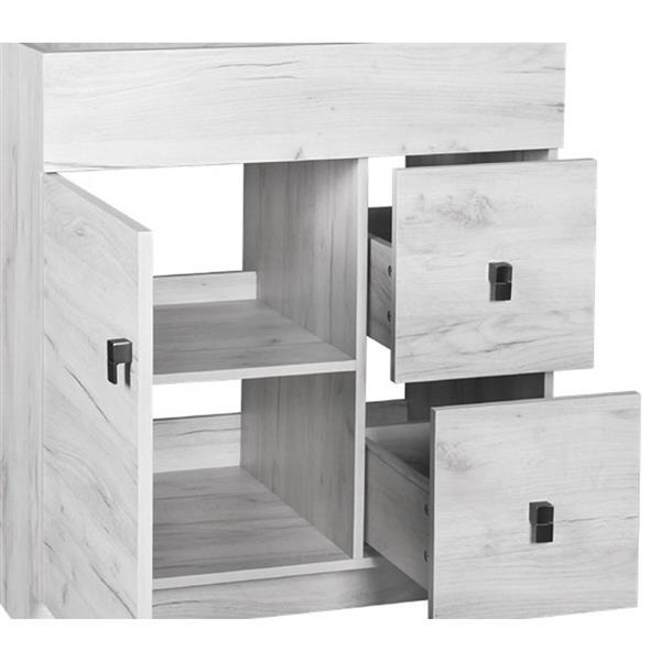 meuble lavabo simple eco de luxo marbre 31 po effet bois blanchi